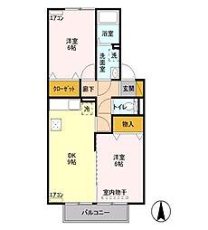 藤ノ木ハウス[A102号室]の間取り