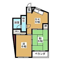 石神ビル[5階]の間取り