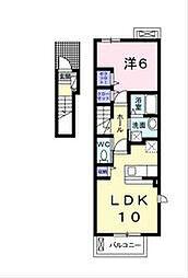 福岡県北九州市小倉北区篠崎4丁目の賃貸アパートの間取り
