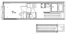 京王井の頭線 浜田山駅 徒歩8分の賃貸アパート 2階1Kの間取り
