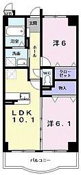 シーダーコート[1階]の間取り