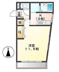 ワラヤビル[2階]の間取り