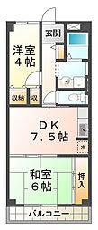 ファルコン日吉[2階]の間取り