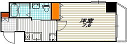 K・CASA大宮 (ケ・カーザ大宮) 2階1Kの間取り