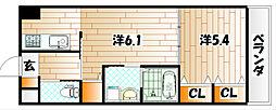シグナス[7階]の間取り