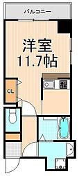 工芸館きうち3[4階]の間取り