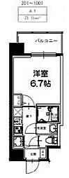 S-RESIDENCE新大阪Ridente[1005号室号室]の間取り