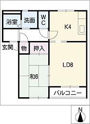 ステージ21 C棟[1階]の間取り