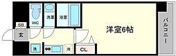大阪府大阪市中央区高津3の賃貸マンションの間取り