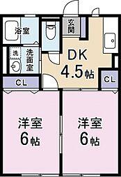 ハイムアンフィニー[2階]の間取り