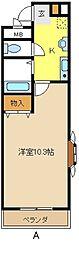 愛知県名古屋市緑区大清水3丁目の賃貸アパートの間取り