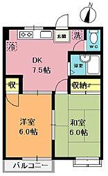 プレンティハイツ II[1階]の間取り