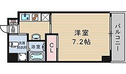 大阪府大阪市西区千代崎1丁目の賃貸マンションの間取り