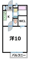 ウエストヴァレーI[2階]の間取り