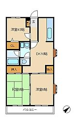 ベル・ビュー松戸[1階]の間取り