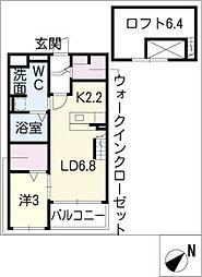 ドリームエイト[2階]の間取り