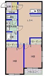 Kハウス[201号室]の間取り