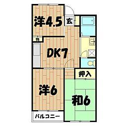 神奈川県横浜市旭区柏町の賃貸マンションの間取り