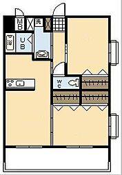 SkyDesign3[205号室]の間取り