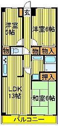 木崎台マンション[103号室]の間取り