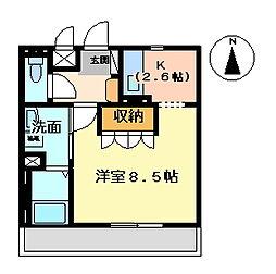 茨城県水戸市根本1丁目の賃貸マンションの間取り