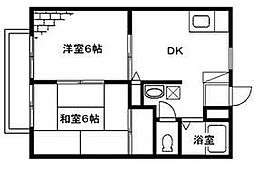 メゾンテヅカ A[102号室号室]の間取り