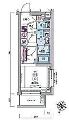 JR山手線 恵比寿駅 徒歩9分の賃貸マンション 1階1Kの間取り