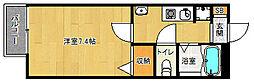 京都府京都市左京区上高野西氷室町の賃貸アパートの間取り