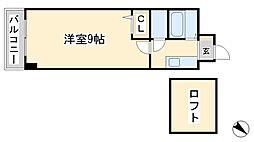 ウィンズ浅香[9階]の間取り