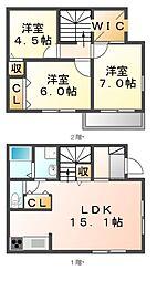 [一戸建] 広島県福山市山手町3丁目 の賃貸【/】の間取り