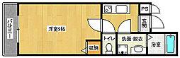 京都府京都市北区紫野十二坊町の賃貸マンションの間取り