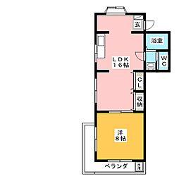 メゾン菊住[3階]の間取り