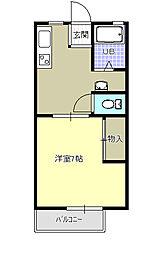 東栄ハイツC[1階]の間取り