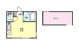 神奈川県横浜市西区西戸部町2の賃貸アパートの間取り