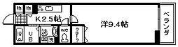 南海線 樽井駅 徒歩8分の賃貸アパート 1階1Kの間取り