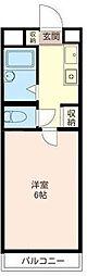 共立リライアンス豊田B[2階]の間取り