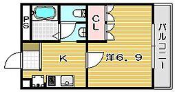 ティアーズガーデン[3階]の間取り