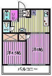錦ハイツB[1階]の間取り