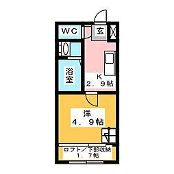 Stage南大橋[2階]の間取り