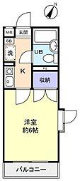 サンノーブル勝田台壱番館[2階]の間取り