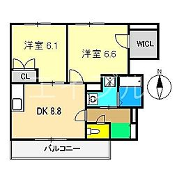 モンシェリ・カメリアIII[1階]の間取り