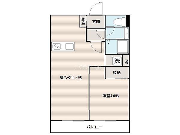 こぐまマンション中野町[5階]の間取り