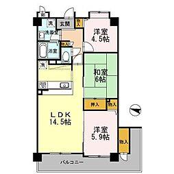 フローラ東館[5階]の間取り