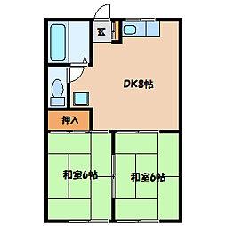 ホクシューハイツ[2階]の間取り