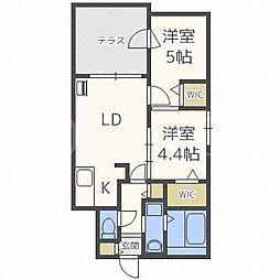 ルイズ24軒[3階]の間取り