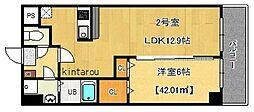 富士見Nameki Mansion[802号室]の間取り