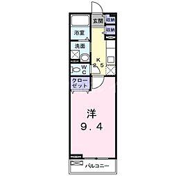 香川県高松市飯田町の賃貸アパートの間取り