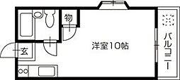 南国市岡豊町 賃貸マンション 1R 1階ワンルームの間取り