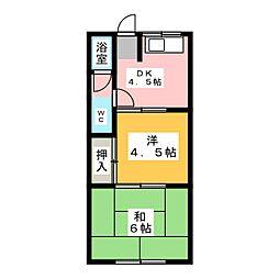 加登屋荘[2階]の間取り