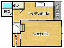 大阪府茨木市新和町の賃貸マンションの間取り